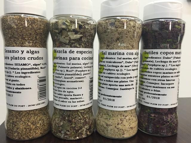 Sazonadores algas