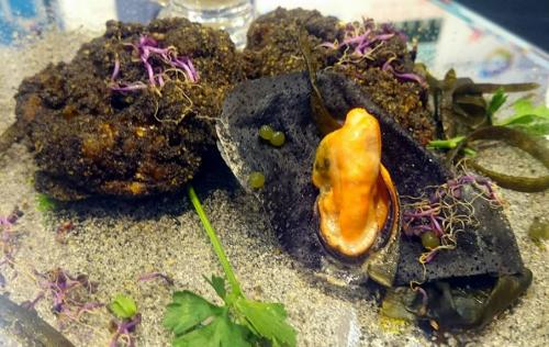 Receta con caviar de Codium